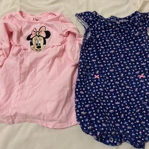 Baby girl 6-9months Dress, 9 month romper like new
